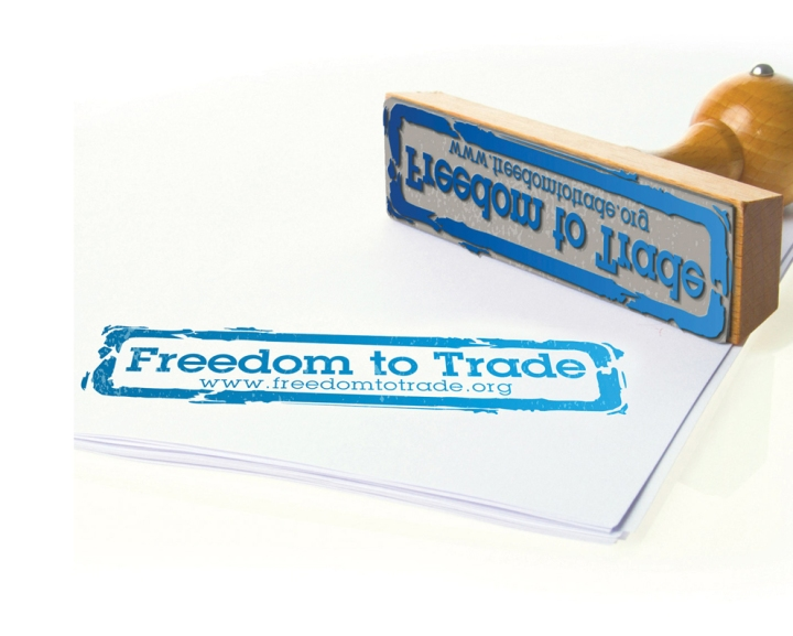 Freedom to Trade ink stamp