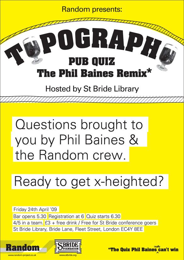 Random Typography Pub Quiz