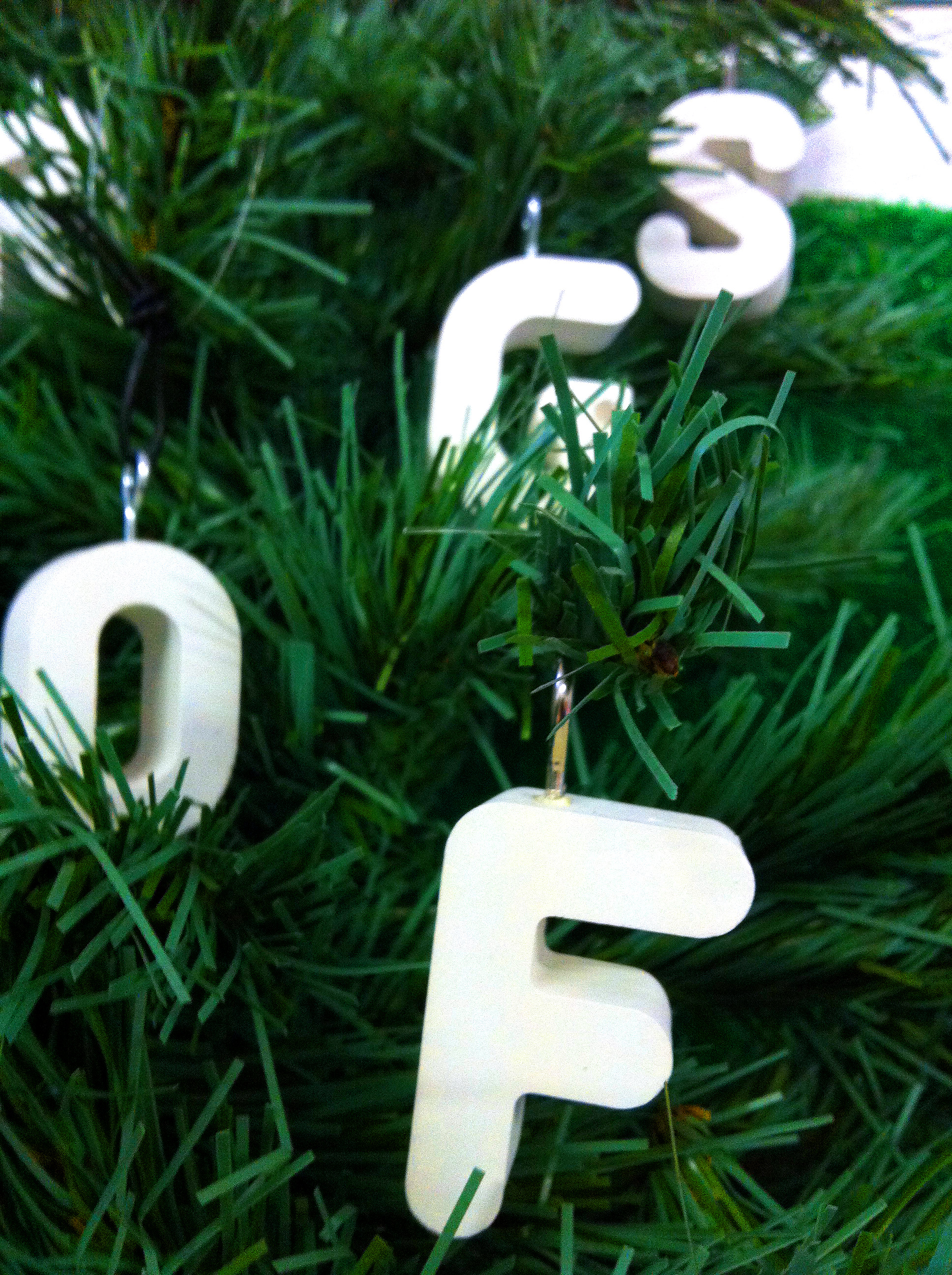 Typographic Christmas Tree Ornaments | From The Jam Factory ...
